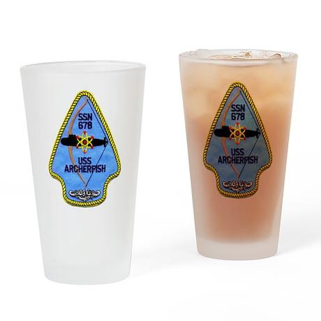 USS ARCHERFISH Drinking Glass