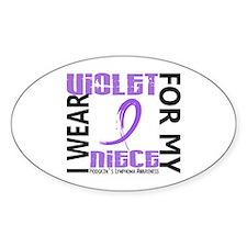 I Wear Violet 46 Hodgkin's Lymphoma Decal