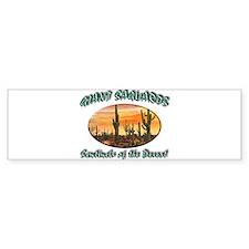 Giant Saguaros Bumper Bumper Sticker