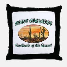 Giant Saguaros Throw Pillow
