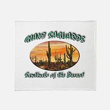 Giant Saguaros Throw Blanket