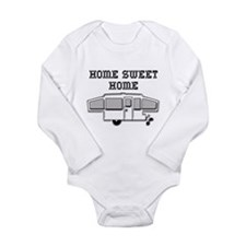 Home Sweet Home Pop Up Long Sleeve Infant Bodysuit