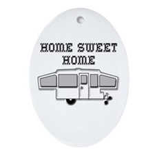 Home Sweet Home Pop Up Ornament (Oval)