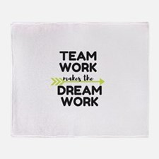 Team Work 2 Throw Blanket