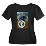 President John F. Kennedy Women's Plus Size Scoop