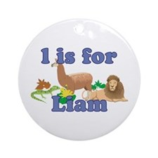 L is for Liam Ornament (Round)