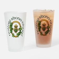 Christmas Claddagh Drinking Glass