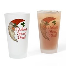 Santa Crescent Moon Drinking Glass