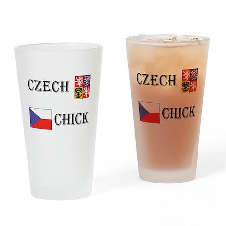 Czech Chicks Drinking Glass