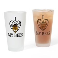 I Love My Bees Drinking Glass