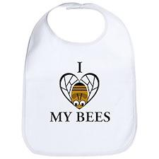 I Love My Bees Bib