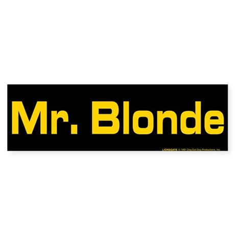 Reservoir Dogs Mr. Blonde Sticker (Bumper)