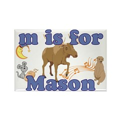M is for Mason Rectangle Magnet