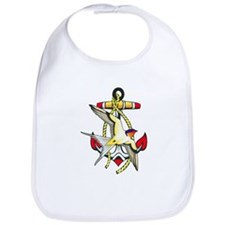 Nautical Anchor Tattoo Bib