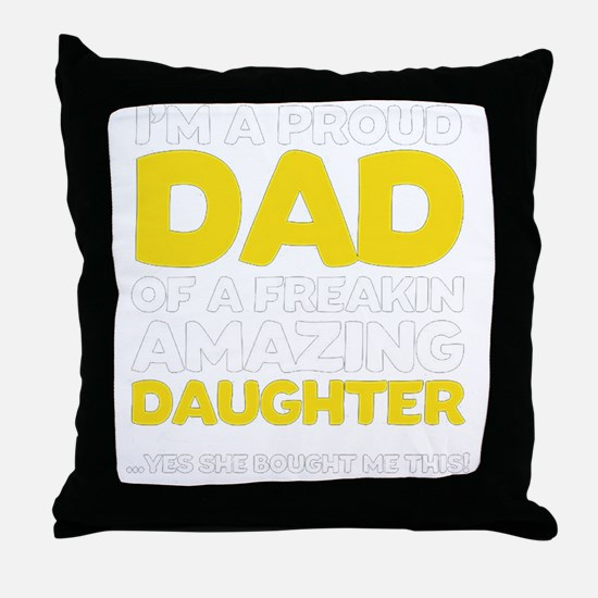 Funny Fathers day Throw Pillow