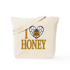 I Love Honey (bee heart) Tote Bag