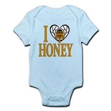 I Love Honey (bee heart) Infant Bodysuit