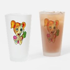 Zombie Girl Tattoo Drinking Glass