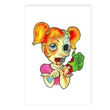 Zombie Girl Tattoo Postcards (Package of 8)