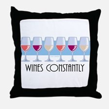 Wines Constantly Throw Pillow