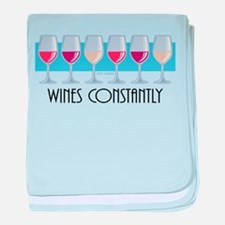 Wines Constantly baby blanket