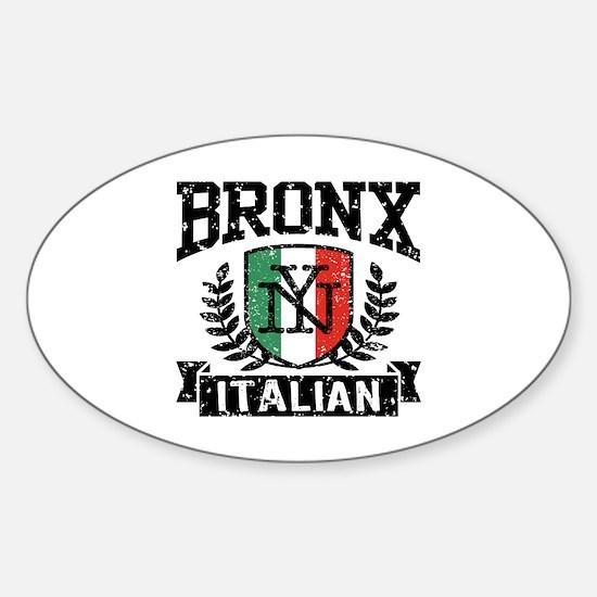 Bronx NY Italian Sticker (Oval)