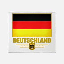 Deutsch Flagge Throw Blanket