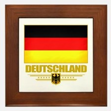 Deutsch Flagge Framed Tile