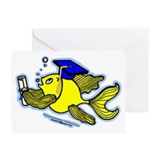 Graduation Fish Graduate Greeting Card