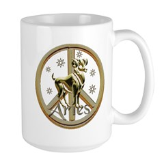 Aries Zodiac Peace Mug