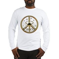 Cancer Zodiac Peace Long Sleeve T-Shirt