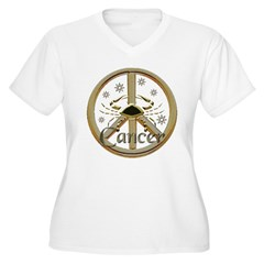 Cancer Zodiac Peace T-Shirt