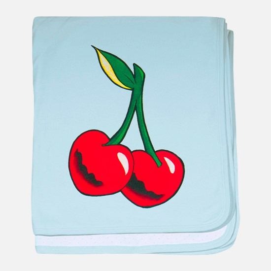 Cherries Tattoo baby blanket