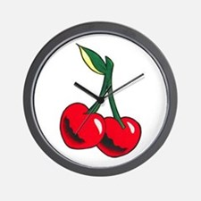 Cherries Tattoo Wall Clock