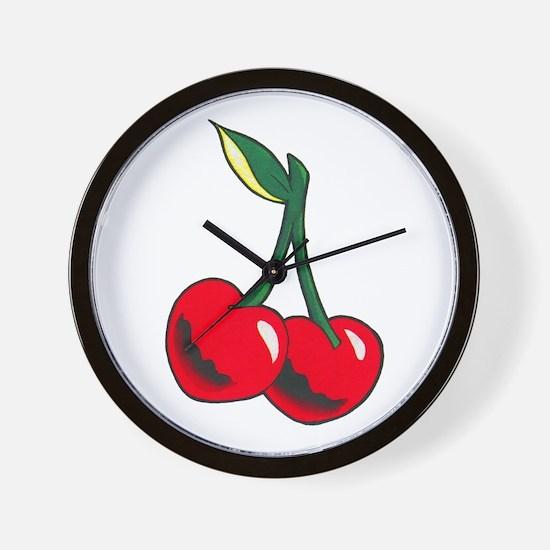 Cherries Tattoo Wall Clock