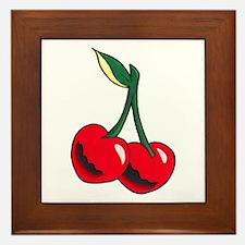 Cherries Tattoo Framed Tile