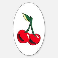 Cherries Tattoo Sticker (Oval)