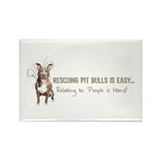 Pit Bulls Are Easy Rectangle Magnet