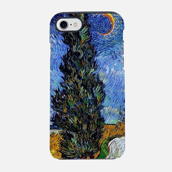 Van Gogh Starry Cyrpess Rd iPhone 7 Tough Case