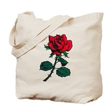 Red Rose Tattoo Tote Bag