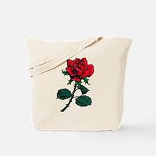 Red Rose Tattoo Tote Bag