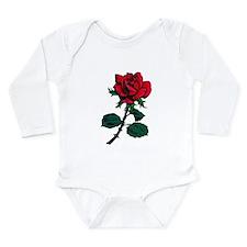Red Rose Tattoo Long Sleeve Infant Bodysuit