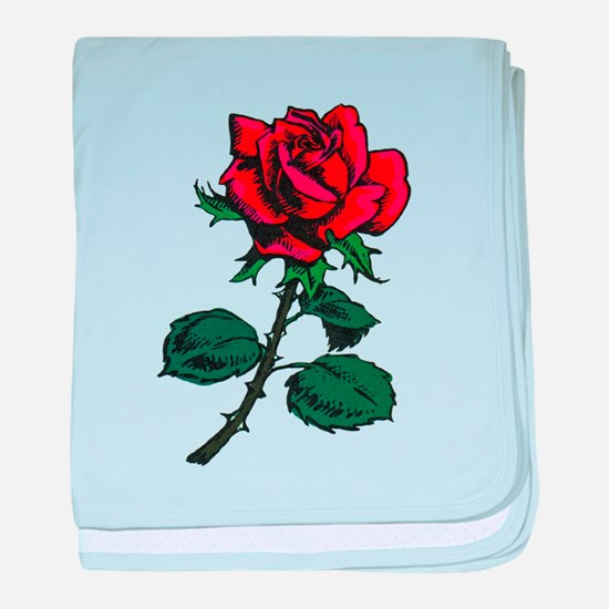 Red Rose Tattoo baby blanket