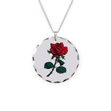 Red Rose Tattoo Necklace