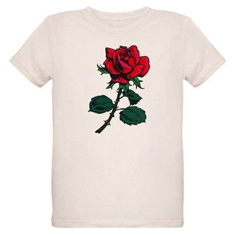 Red Rose Tattoo Organic Kids T-Shirt
