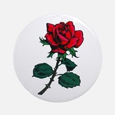 Red Rose Tattoo Ornament (Round)