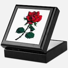 Red Rose Tattoo Keepsake Box