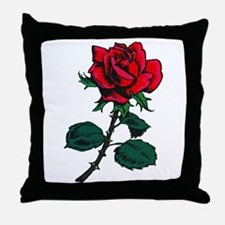 Red Rose Tattoo Throw Pillow