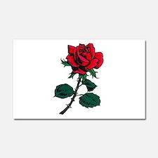 Red Rose Tattoo Car Magnet 20 x 12