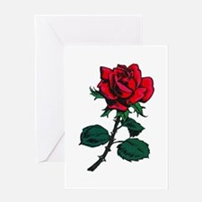 Red Rose Tattoo Greeting Card